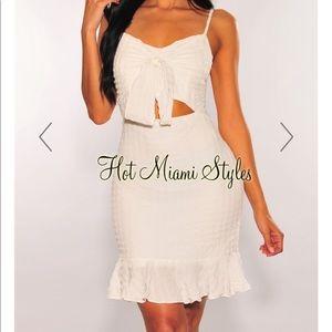 Hot Miami Styles White Dress